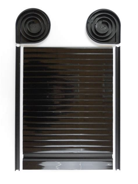 Tambour Door Face Fix Spiral Kit Gloss Black Finish