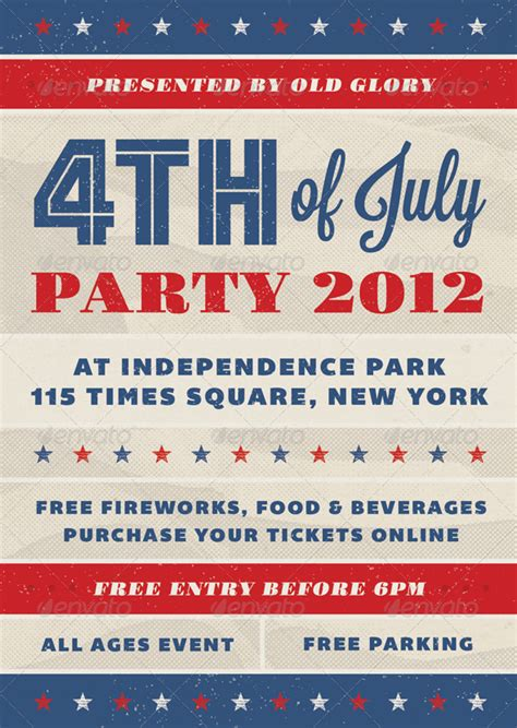 Fourth Of July Party Flyer Template fourth of july event flyer july events