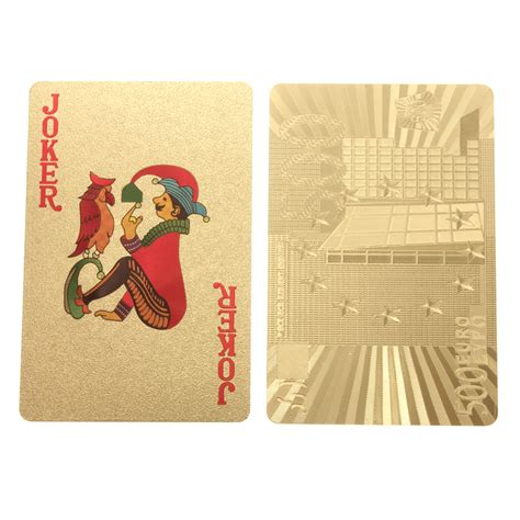 Specs Gift Card - 500 euros gold foil poker playing cards lazada ph