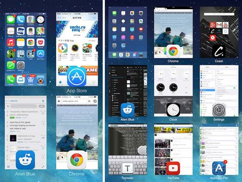 change layout of app how to change the ios 7 app switcher layout to a grid