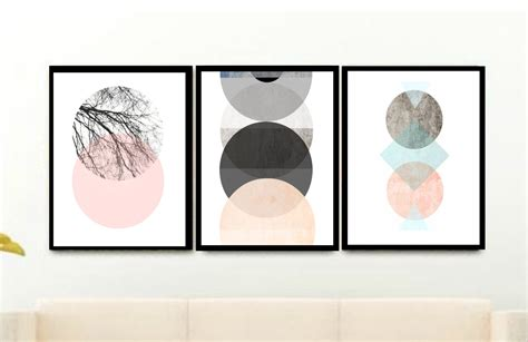 scandinavian printable wall art set of 3 prints scandinavian art triptych printable art