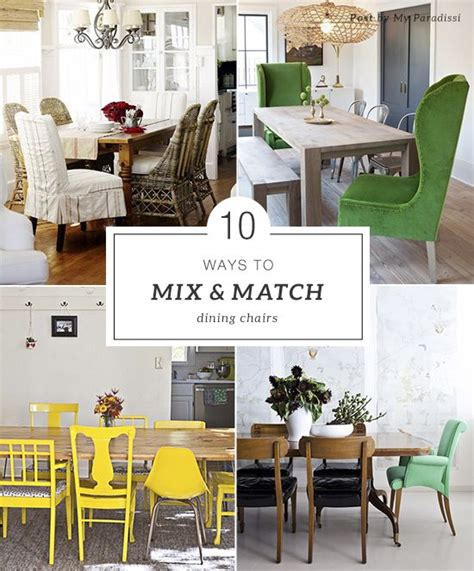 Mix And Match Dining Room Chairs Mismatched Chairs Wall Desk And Bright Green On