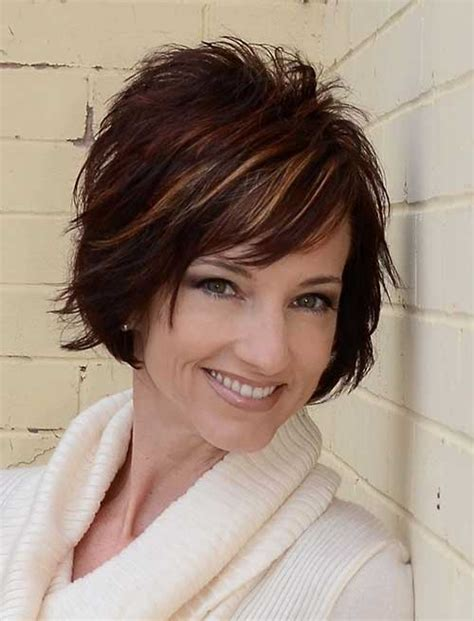 short hairstyles for women over 40 with thin fine hair and round fat face 20 short hair for women over 40 short hairstyles 2017