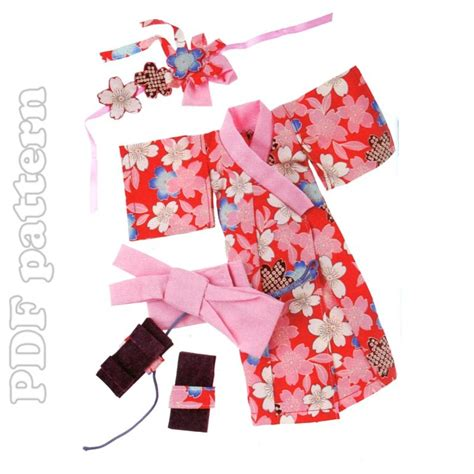 kimono doll pattern free 13in doll kimono shoes and headdress sewing pattern