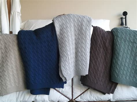 knit throws cable knit throws