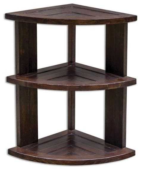 Triangle Accent Table Uttermost Claro 15 Quot Triangle Hickory Accent Table In Brown Side Tables And End Tables By