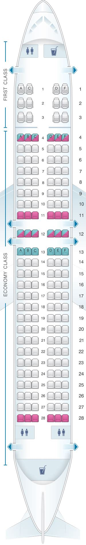 sun seating chart seat map sun country airlines boeing b737 800 162pax