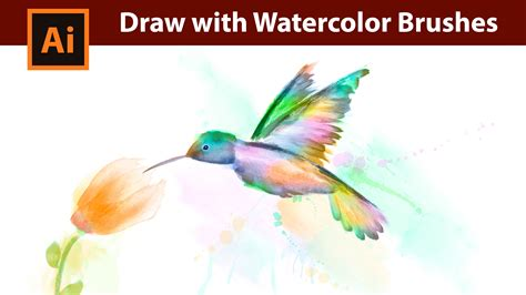 watercolor pattern illustrator download how i draw a kolibri with watercolor brushes in adobe
