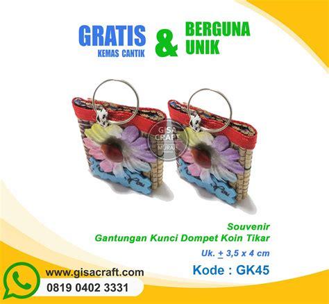 Souvenir Dompet Gantungan Kunci souvenir gantungan kunci dompet koin tikat gk45 gisa craft