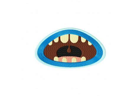 Retro Kitchen Designs Monster Mouth Screams Machine Embroidery Design Daily