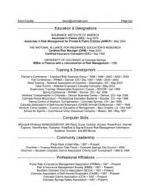 Insurance Resume Exle by Insurance Manager Resume Exle
