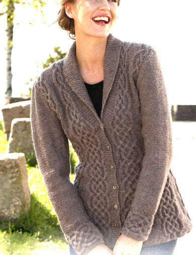 knitting pattern ladies cardigan womans ladies celtic cardigan cables shawl collar 36 quot 50