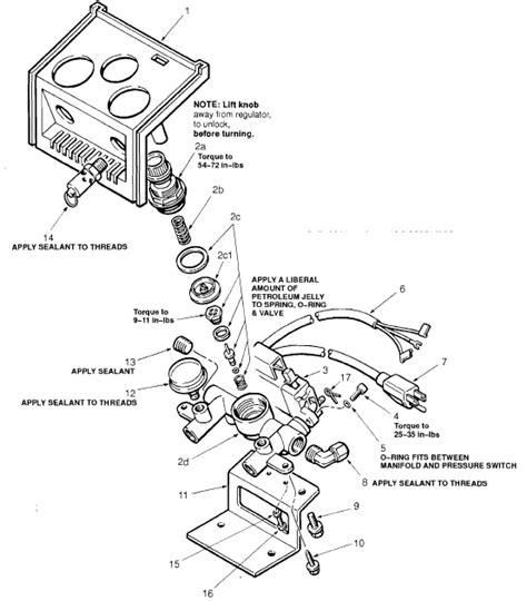air pressure regulator diagram sanborn regulator parts for free air compressors