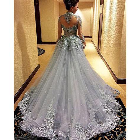 Dress Grey grey prom dress high neck prom dress prom dress