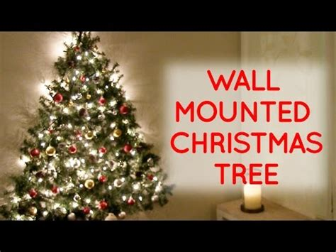 how to mount a chrismas tree diy wall mounted tree