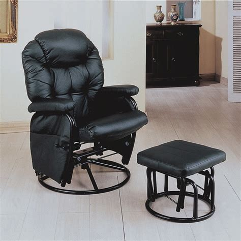 rocker recliner swivel chair black swivel rocker recliner with ottoman 13872983