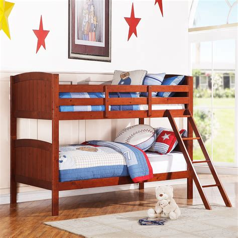 Oxford Creek Joseph Mahogany Twin Size Bunk Bed Home Joseph Bunk Beds