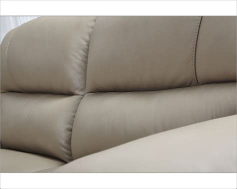 sofa leather colors modern leather sofa in beige color esf8052s
