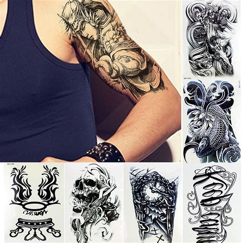 temporary body tattoos for men 10 sheets temporary tattoos arm sticker