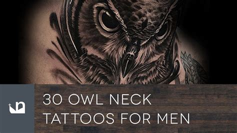owl tattoo throat 30 owl neck tattoos for men youtube