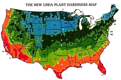 Landscape Zones Usa Zone Map Planting