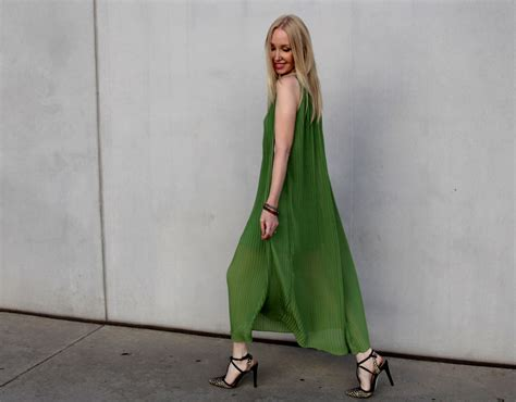Collection Lany Maxi sheinside green pleated maxi dress currently crushing
