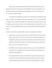 Mba 5110 8 Week 3 Assignment 2 3 Assignment 2 by Mba Mba 6601 International Business Csu Page 1 Course