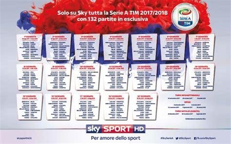 Calendario Serie A 2017 18 Il Calendario Di Serie A 2017 2018 Da Stare In Pdf