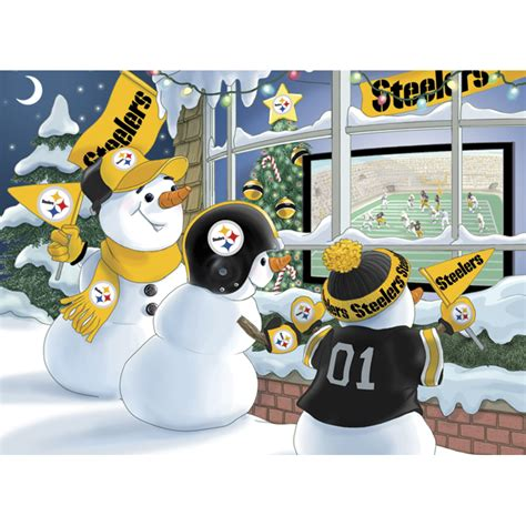 pittsburgh steelers christmas cards the danbury mint