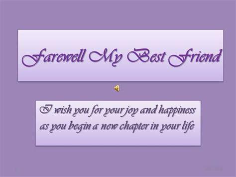 Farewell My Best Friend Powerpoint Slideshow Authorstream Farewell Presentation Template