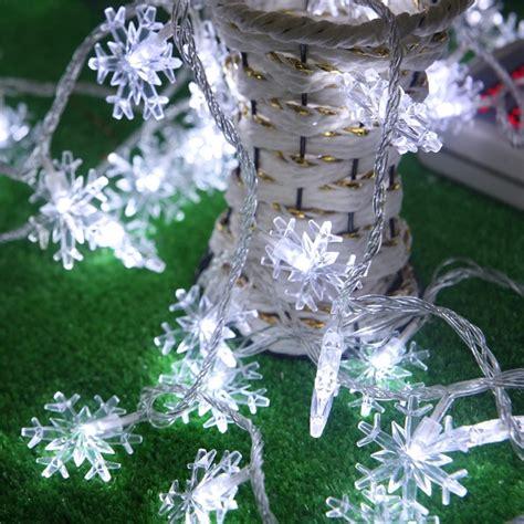 outdoor snowflake lights string 5m 50 led lights battery operated snowflake led string lights for outdoor indoor