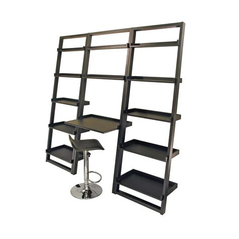 Shelving With Desk leaning wall shelf office furniture