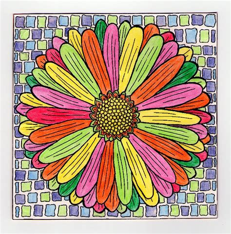 imagenes de mandalas faciles pintados mandalas para pintar mandala flor con ejemplo pintado