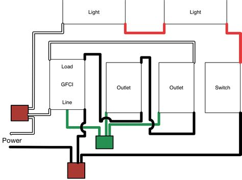 gfci and light switch in the same box wiring lights and outlets on same circuit diagram agnitum me