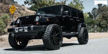 Rims For Jeeps Wranglers Black On Black With These New Dub Rims On A Jeep Wrangler