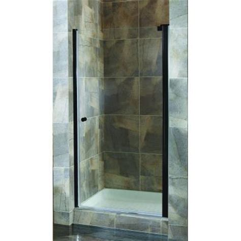 24 Glass Shower Door Foremost Cove 22 5 In To 24 5 In X 72 In H Semi Framed Pivot Shower Door In Rubbed