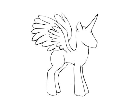 my pony drawing template alicorn outline by glue123 on deviantart