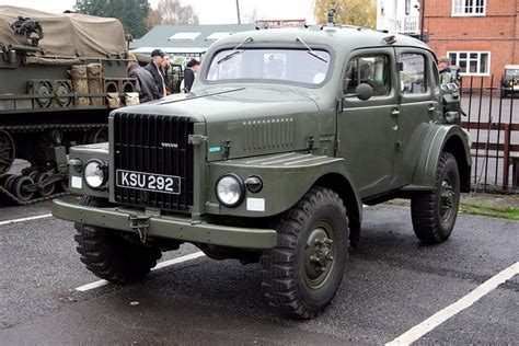 brooklands museum military vehicles day  volvo tp sugga swedish army radio command