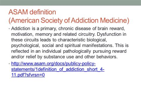 Definition Of Detox by The Model Addiction Is A Brain Disease Ppt