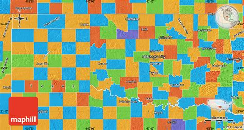 map of the united states oklahoma political map of oklahoma
