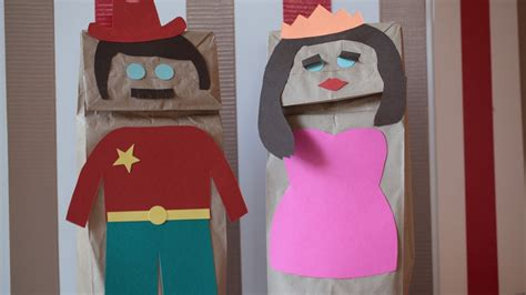How To Make Puppets Out Of Brown Paper Bags - how to create paper puppets kin diy