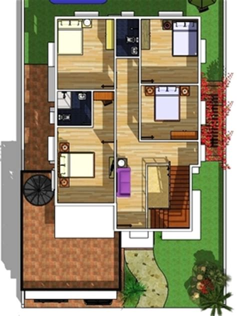 floor plan with roof plan modern 2 storey w roofdeck house designer and builder