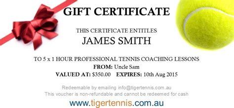 gift vouchers tiger tennis adelaide australia