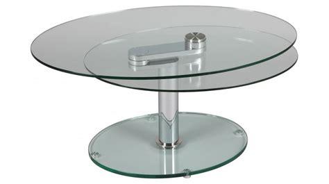 table basse en verre ovale design ezooq