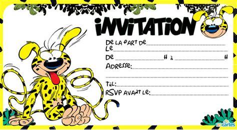 Invitation Anniversaire Marsupilami 123 Cartes