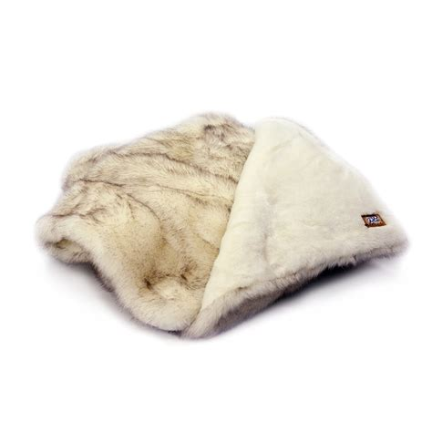 arctic fox throw blanket brown tip poshpelts