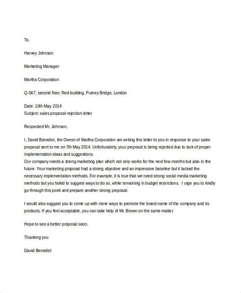 sample proposal rejection letter templates ms