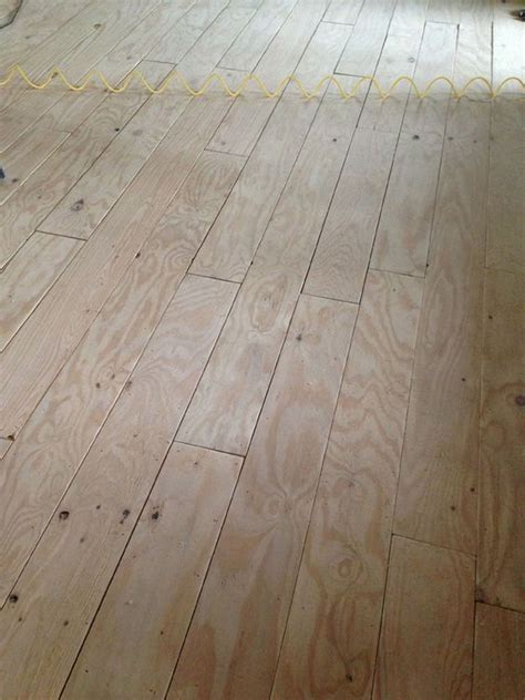 diy wide plank floors made from plywood green