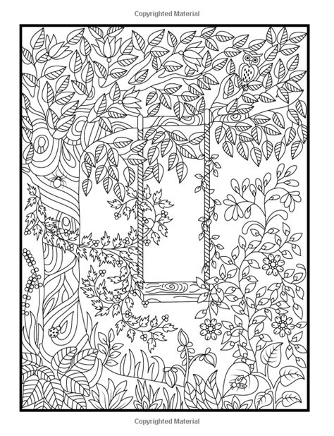 summer garden coloring page hidden garden an adult coloring book with secret forest