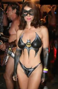 Body painted super heroines does it mean they are nude post game